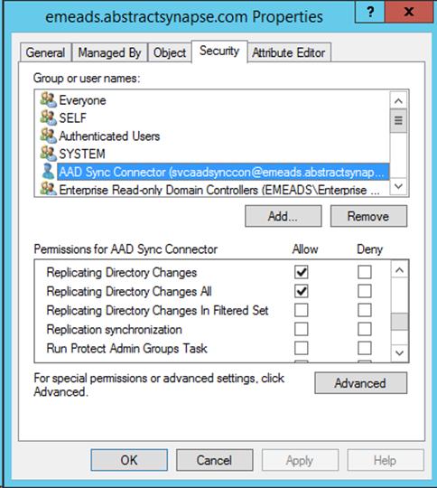 directory synchronization